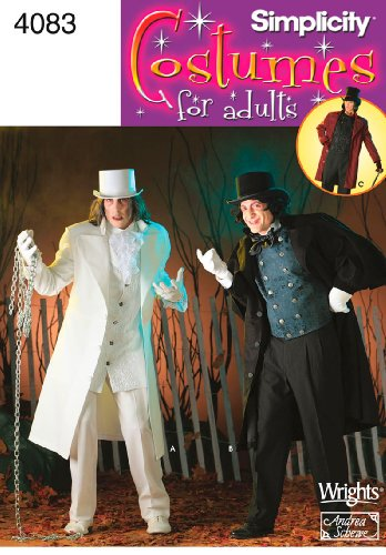 Simplicity Sewing Pattern 4083 Men Costumes, AA (XS-S-M)