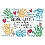 Dimensions Needlecrafts Counted Cross Stitch, Grandparents Touch a Heart