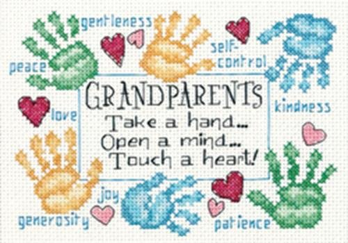 Heart Needlepoint (Dimensions Needlecrafts 65011 Counted Cross Stitch, Grandparents Touch a Heart)