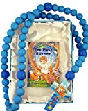 Blue Wooden Prayer Bead My First Rosary with Noah's Ark Cross, 18 Inch