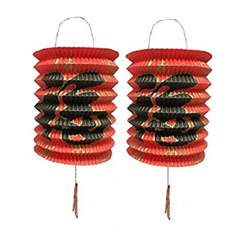Dmtse diametro 15cm confezione da 12colore rosso Capodanno cinese lanterne di carta 12pezzi