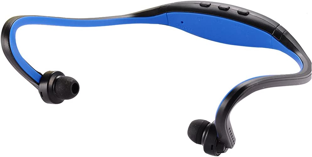 Cuitan Bluetooth 3.0 Wireless Sports Stereo Headphones Earphones Headset for Samsung, Apple, Huawei, Meizu, Coolpad, Xiaomi, Tablet, Laptop, etc, Neckband Style Headset for Bluetooth Devices - Blue