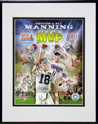 Peyton Manning 8x10 Matted Photo - Peyton Manning & Eli Manning