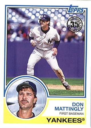 Amazoncom 2018 Topps 83 Topps 83 56 Don Mattinglyyork Yankees