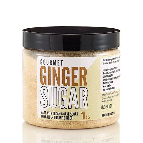 - Bakto Gourmet Golden Ginger Cane Sugar - 1 lb Jar