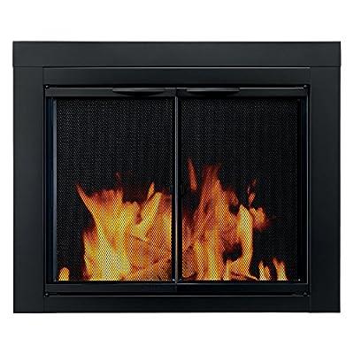 Pleasant Hearth AN-1010 Alpine Fireplace Glass Door, Black