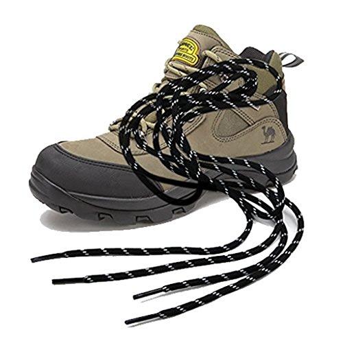 2pairs 150cm fuerte Caminando Bota Senderismo Laces cordones redondos Trabajo Skate