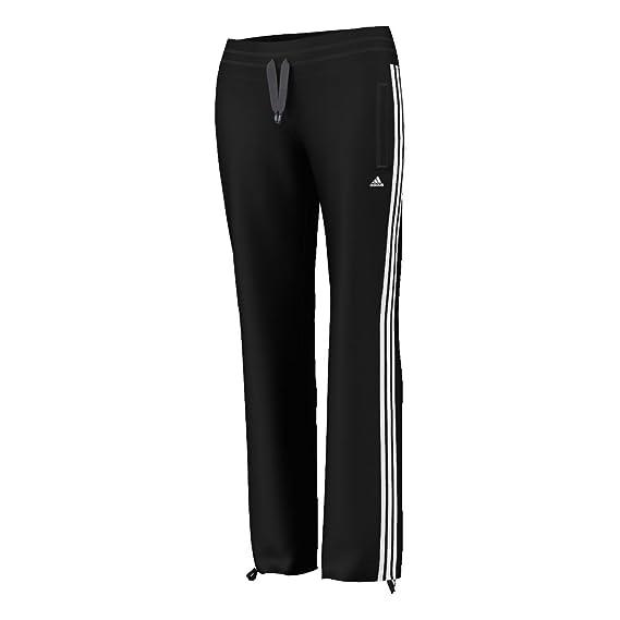 Women'adidas Damen Hose Essentials 3-Stripes Knit Black/wht ...