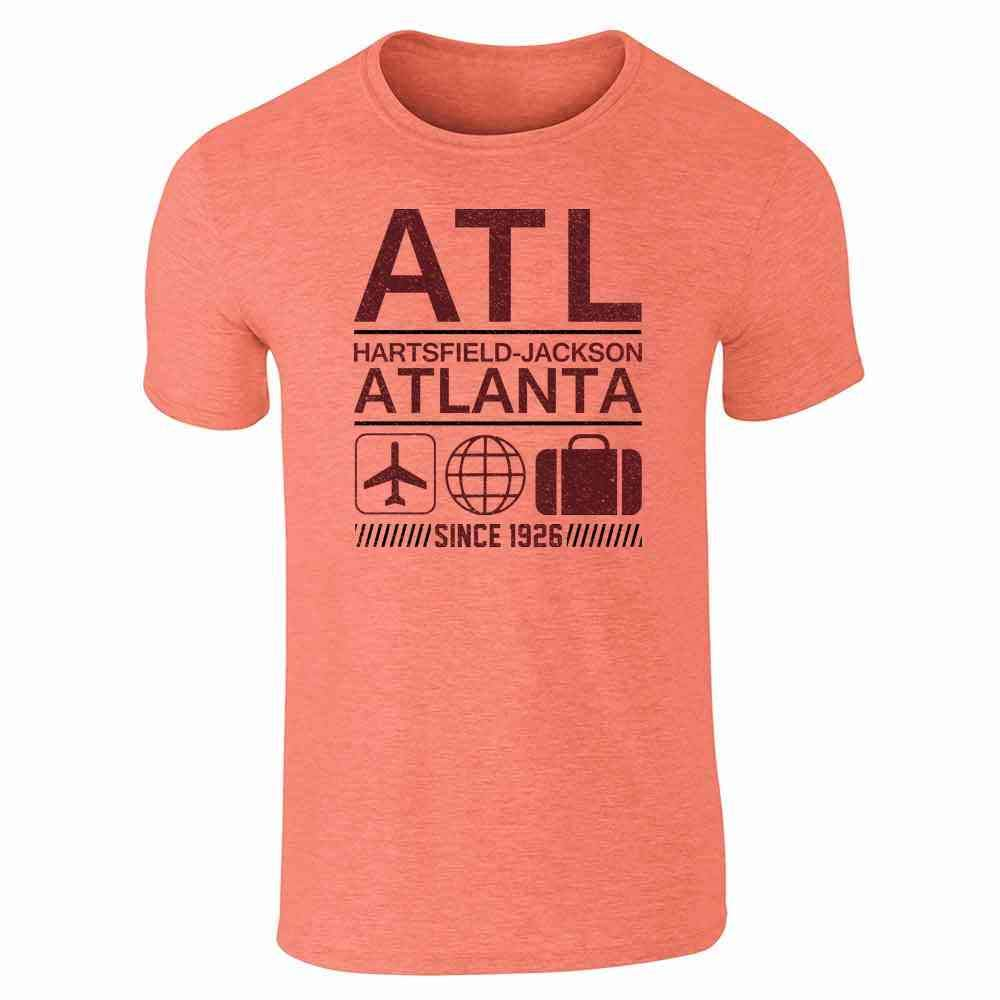 Atl Atlanta Airport Code Since 1926 Travel Short Sleeve T Shirt 5333