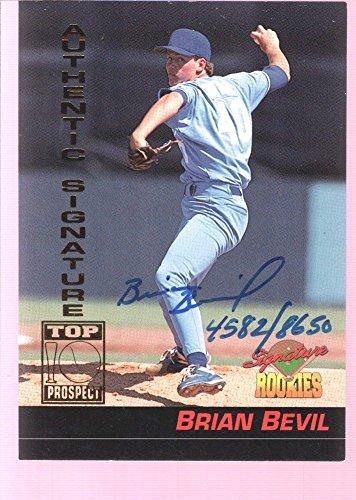 BRIAN BEVIL 1994 SIGNATURE AUTOGRAPH AUTO ROOKIE RC MINT ROYALS /8650 $12