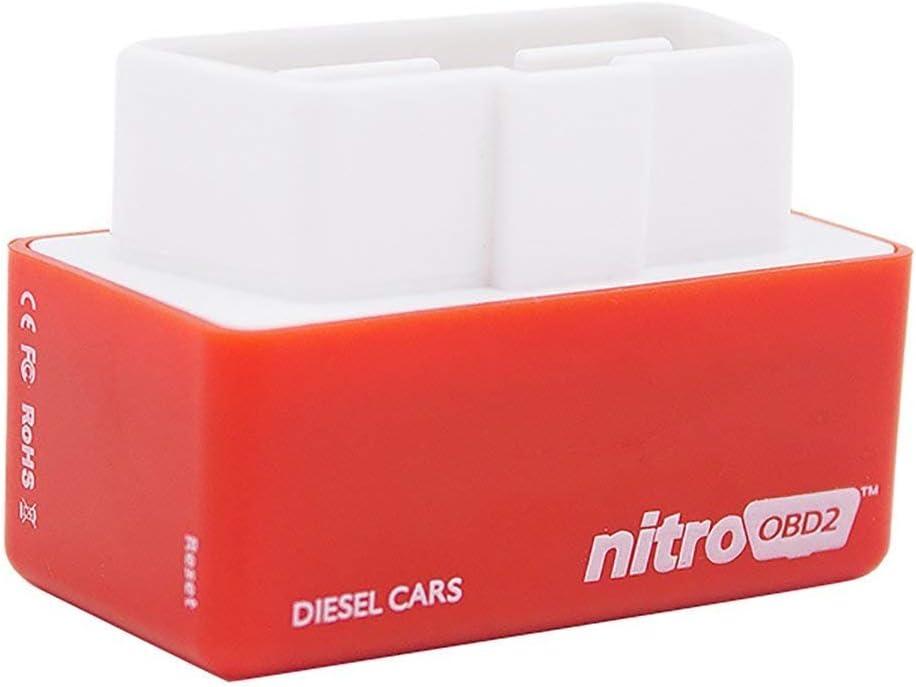 Chip Tuning Box, Nitro OBD2 Diesel, 35% más BHP + 25% más de par. apto Para el Modelo de Propósito General de Diesel Cars 1996. - Rosso