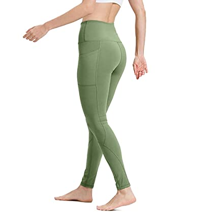 Amazon.com: Berryhot Leggings for Women High Waisted Yoga ...