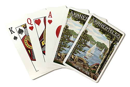 Skaneateles, New York - Lake View with Sailboats (Playing Card Deck - 52 Card Poker Size with Jokers) by Lantern Press