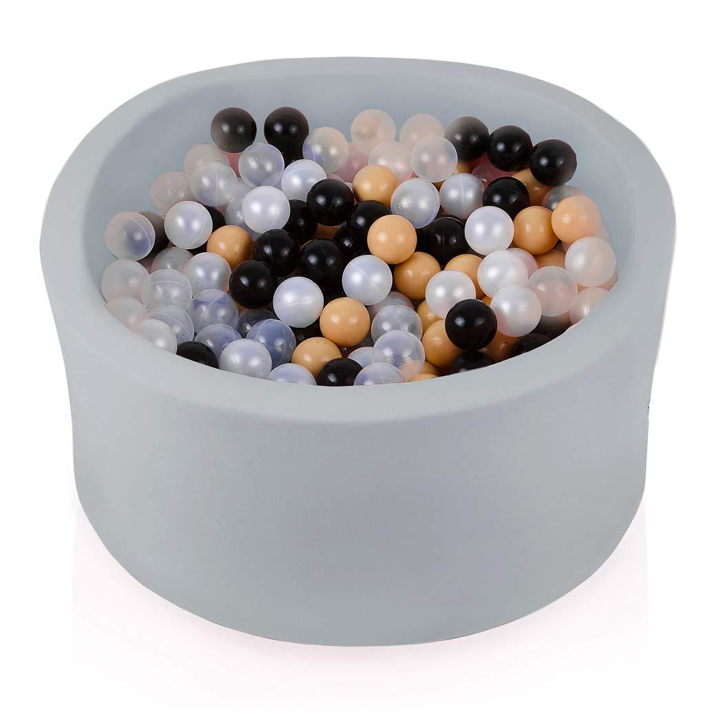 gris transparent Beige Noir Perle 300 Balles FUNGO Piscine A Balle pour Bébé 90x40 Piscine à Balle pour Enfant avec 200 Ou 300 Balles (300 Balles, Noir Vert VertCéladon Turquoise Blanc)