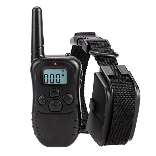 Homdox Dog Training Collar with Remote Battery Powered Pet Training Electric Collars for Dogs 300 Meters Range with LCD Display