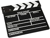Neewer 12''X11''/30cm X 27cm Wooden Director's Film Movie Slateboard Clapper Board