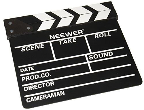 Neewer 12''X11''/30cm X 27cm Wooden Director's Film Movie Sl