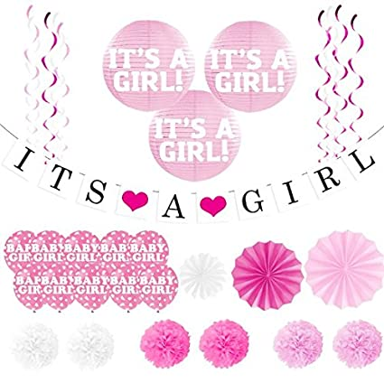 Amazon Baby Shower Decorations For Girl Its A Girl Banner