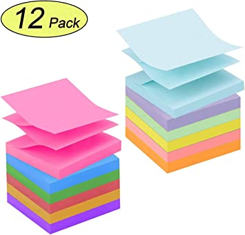 Early Buy Sticky Notes 3x3 Sticky Notes 4 Pastel Color Self-Stick Notes 100 Sheets//Pad 24 Pads