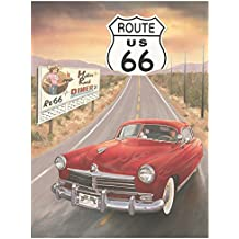 "Crystal Art Sign Of The Times Route 66 Mother Road Diner Metal Sign, 12"" x 15"""