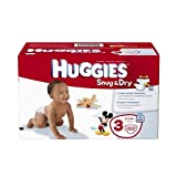Health & Personal Care : Huggies Snug and Dry Diapers Economy Plus, Size 3, 222 Count