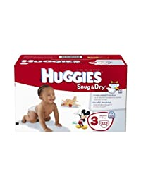 Huggies Snug and Dry Diapers Economy Plus, Size 3, 222 Count BOBEBE Online Baby Store From New York to Miami and Los Angeles
