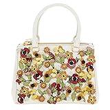 Prada Women's Garden Saffiano Satchel White + Multicolor
