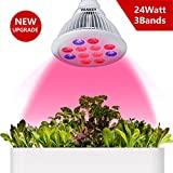 [Update] 24W LED Plant Grow Lights,Vankey E27 Plant Growing Bulbs Lamp for Indoor Garden Greenhouse Hydroponic Growing