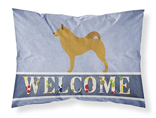 Caroline's Treasures Finnish Spitz Welcome Pillowcase, Standard, Multicolor