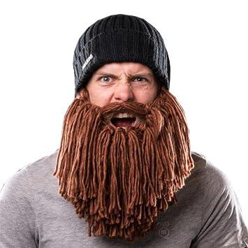Beardo beard hat viking – knitted hat with brown beard  Amazon.co.uk ... 2491e8d34dd