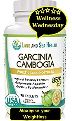 GARCINIA CAMBOGIA 85%HCA, 90 Tablets, 1500mg Serving, #1 Potency, Natural Appetite Suppressant, Fat Inhibitor