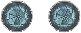 product image for DANFORTH - Gem Sky Mini Post Earrings - 3/8 Inch - Pewter - Handcrafted - Made in USA