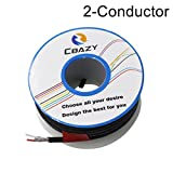 CBAZY™ 2547 24 AWG Control Cable Copper Wire Shielded Audio Cable Headphone Cable Signal Line 2-core 8 Meter Black