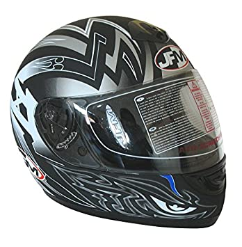 Bottari 75983 Casco de Moto, Talla L, Color Negro/Plata Metal