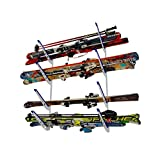 Metal Ski Storage Rack | Adjustable Skis Home Wall Mount | StoreYourBoard