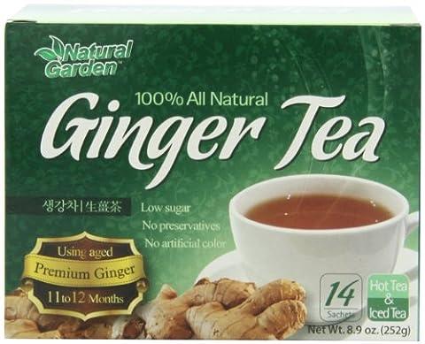 Natural Garden 100% All Natural Ginger Tea, 14 Tea Sachets (Pack of 6) - Thai Natural