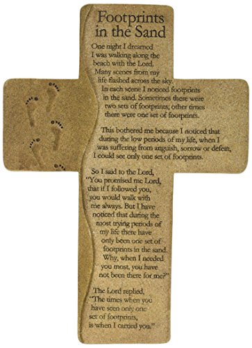 Carson Home Accents 13276 Footprints Wall Cross, -