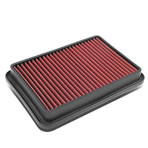 For 4Runner / Tacoma 2.4L / 2.7L Reusable & Washable Replacement High Flow Drop-in Air Filter (Red) - N120 N130