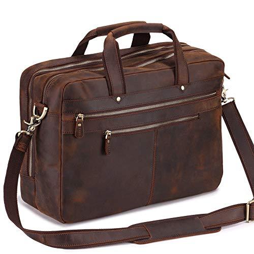 Berliner Bags Oslo XL Sac de sport de voyage en cuir en forme de Duffel Homme Femme Retro Marron