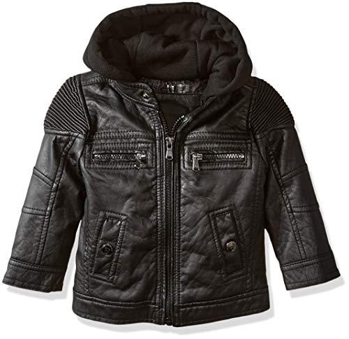 (Urban Republic Baby Ur Boys Faux Leather Jacket, Black 6373IB 24M)
