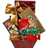 Christmas Delight Chocolate Gift Basket Red & Green Plaid