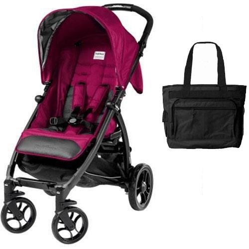 Peg Perego - Booklet Stroller with Diaper Bag - Fleur by Peg Perego