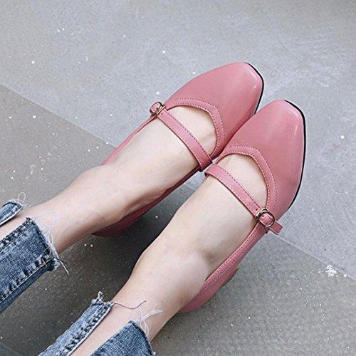 COOLCEPT Damen Mode Blockabsatz Pumps Pink