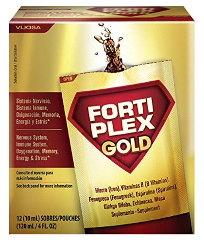 Fortiplex Gold, Energy Booster, Supports Nervous System (12 Pouches plus FREE SAMPLES)