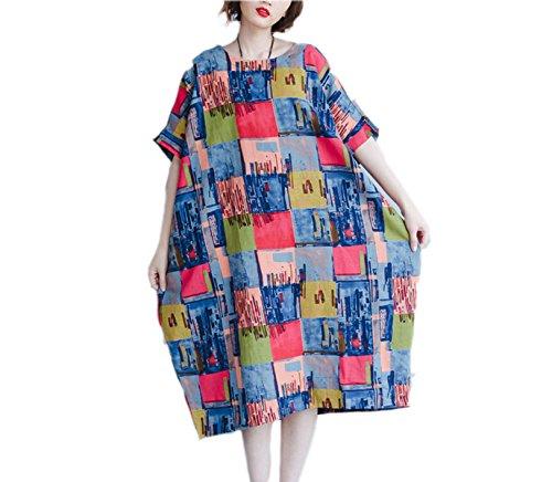 Vestido De La Manera De Gran Tamaño Sueltos HGDRSpring Y Verano De Las Mujeres A