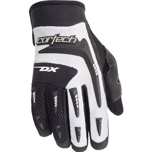 Cortech DX 2 Men's Textile Street Racing Motorcycle Gloves - Black/White / Large