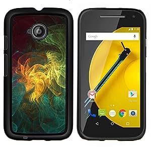YiPhone /// Prima de resorte delgada de la cubierta del caso de Shell Armor - Patrón de arte geométrico Universo colorido - Motorola Moto E2 E2nd Gen