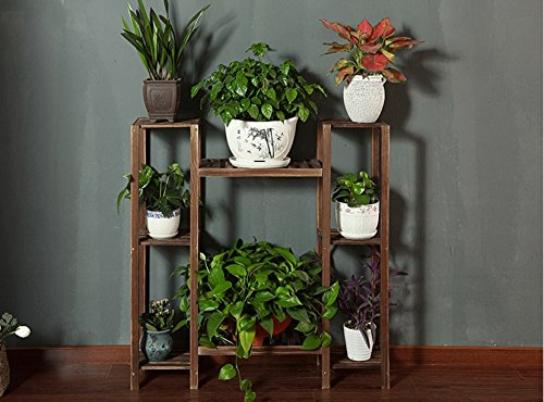 Balcony flower rack solid wood living room multi - storey flower racks pastoral style flower racks by Flower racks - xin