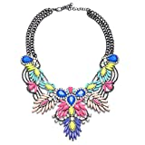 Lovage Colorful Resin Bubble Bib Statement Necklace Bohemian Chunky Collar Jewelry