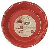 REVOL 646680 Elizabeth Karmel All American Dessert Pie Dish, 10.5 x 2.25, Pepper Red